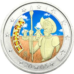 Obverse of Spain 2 euros 2005 - Don Quixote of La Mancha