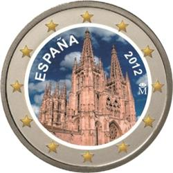 Obverse of Spain 2 euros 2012 - Burgos Cathedral