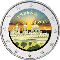 Obverse of Spain 2 euros 2013 - Monastery and Site of the Escorial, Madrid