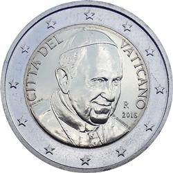 Obverse of Vatican 2 euros 2014 - Portrait of His Holiness Pope Benedict XVI