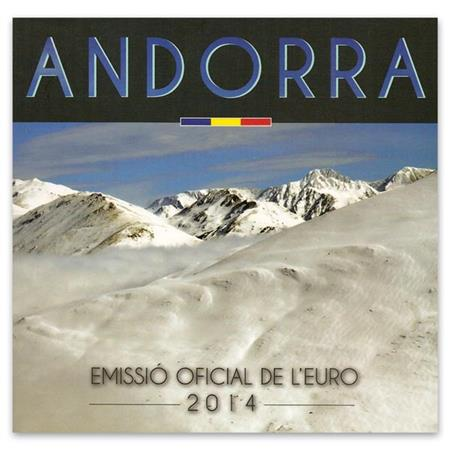 Obverse of Andorra Official Blister 2014