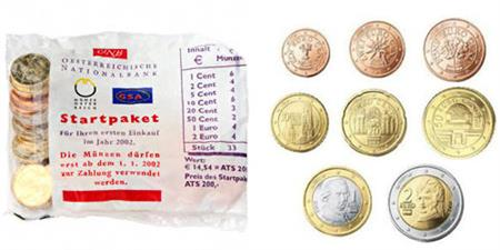 Obverse of Austria Starter Kit 2002