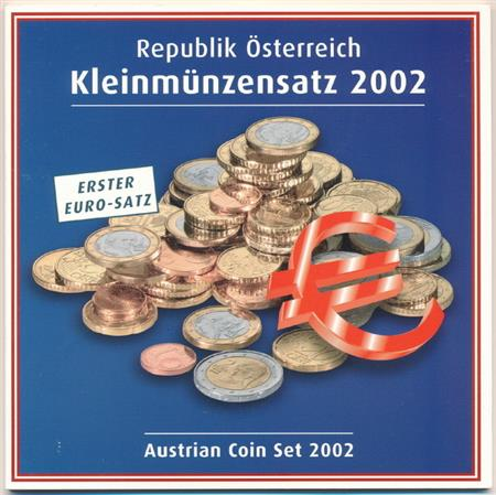 Obverse of Austria Official Blister 2002
