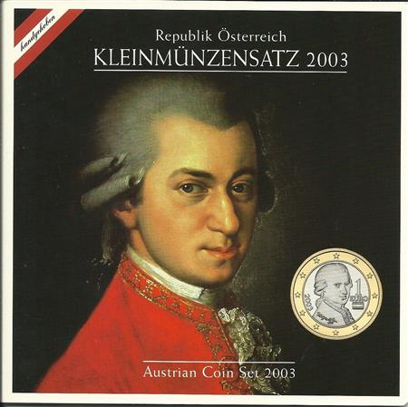 Obverse of Austria Official Blister 2003