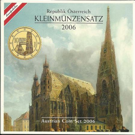 Obverse of Austria Official Blister 2006