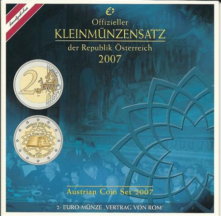 Obverse of Austria Official Blister 2007