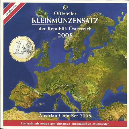 Obverse of Austria Official Blister 2008