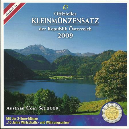 Obverse of Austria Official Blister 2009