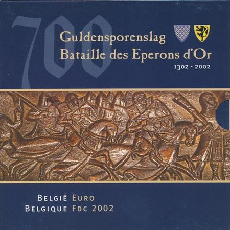 Obverse of Belgium Official Blister 2002