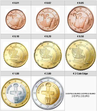 Obverse of Cyprus Complete Year Set 2015