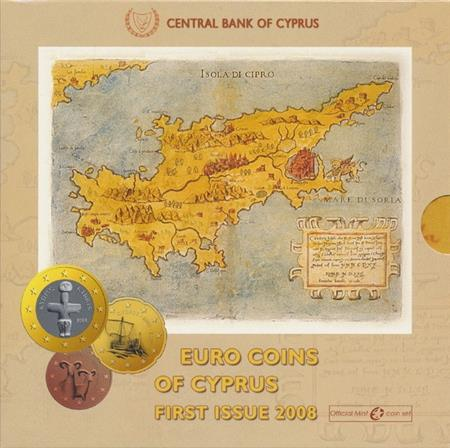 Obverse of Cyprus Official Blister 2008