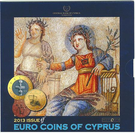 Obverse of Cyprus Official Blister  2013