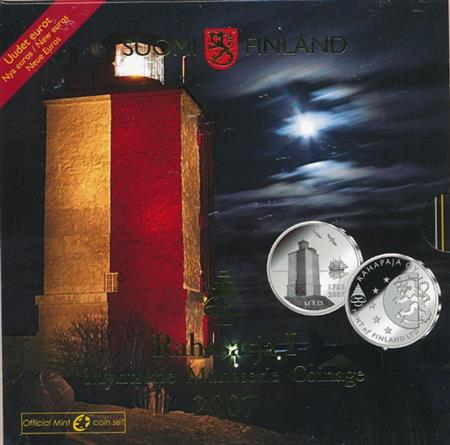 Obverse of Finland Official Blister - Uto lighthouse 2007