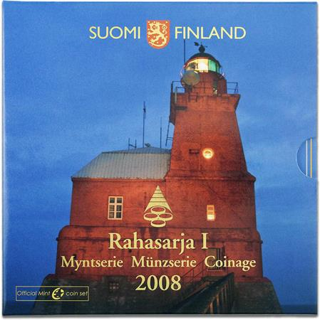 Obverse of Finland Official Blister - Porkkala Lighthouse 2008