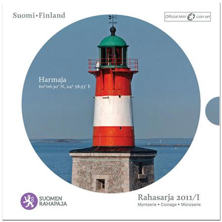 Obverse of Finland Official Blister - Harmaja lighthouse 2011