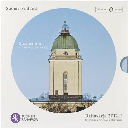 Obverse of Finland Official Blister - Suomenlinna 2012