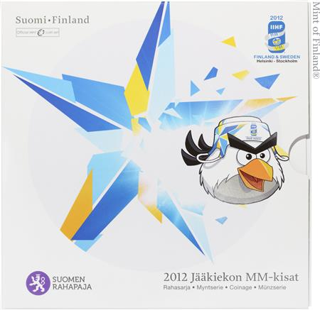 Obverse of Finland Official Blister - Ice Hockey World Championship 2012