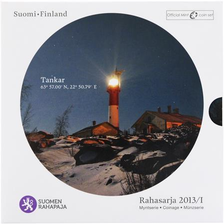 Obverse of Finland Official Blister - Tankar Lighthouse 2013