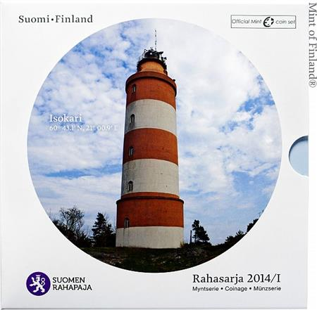 Obverse of Finland Official Blister - Isokari Lighthouse 2014