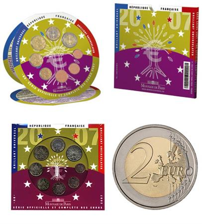 Obverse of France Official Blister 2007