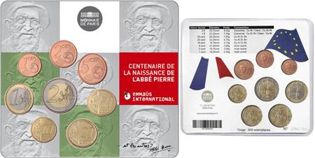 Obverse of France Official Blister - Abbe Pierre 2012