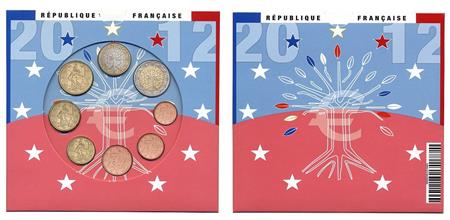 Obverse of France Official Blister 2012
