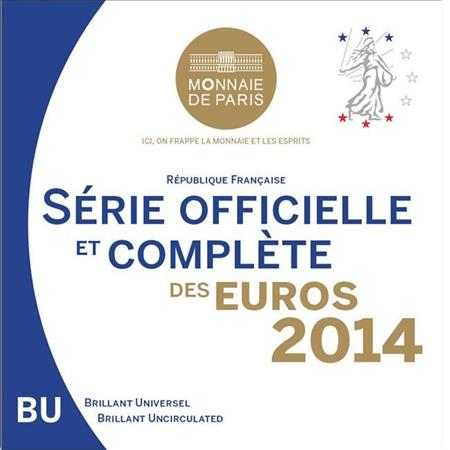Obverse of France Official Blister 2014