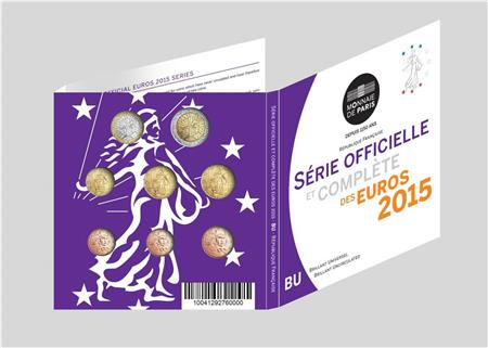 Obverse of France Official Blister 2015