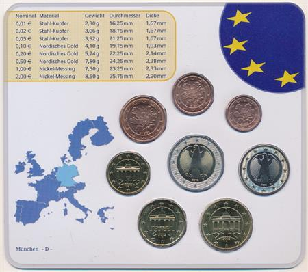 Obverse of Germany Official Blister - Mintmark F 2002
