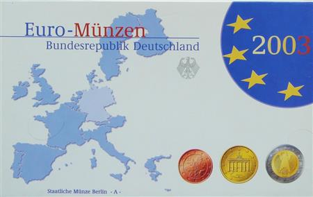 Obverse of Germany Proof Set - Mintmark D 2003