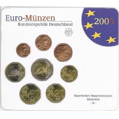 Obverse of Germany Official Blister - Mintmark G 2005