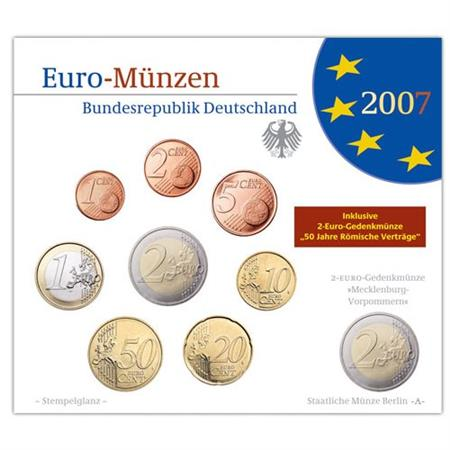Obverse of Germany Official Blister - Mintmark J 2007