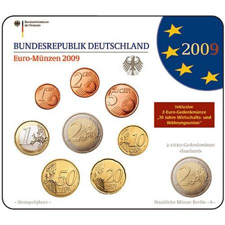 Obverse of Germany Official Blister - Mintmark F 2009