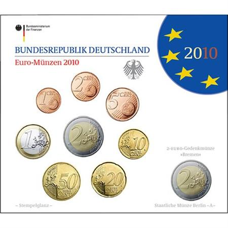 Obverse of Germany Official Blister - Mintmark F 2010