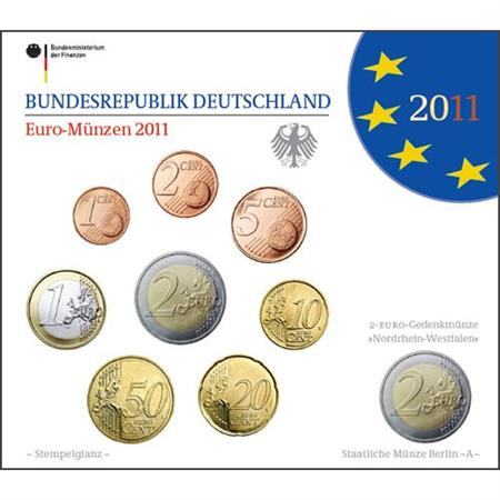 Obverse of Germany Official Blister - Mintmark A 2011
