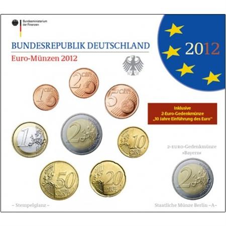 Obverse of Germany Official Blister - Mintmark G 2012