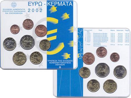 Obverse of Greece Official Blister 2002