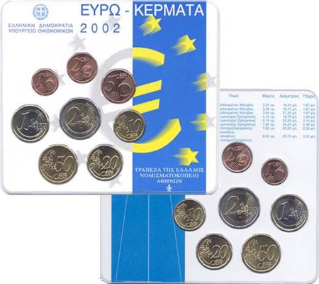 Obverse of Greece Official Blister (Dutch) 2002