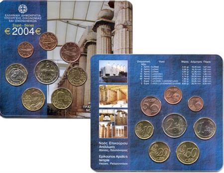 Obverse of Greece Official Blister 2004