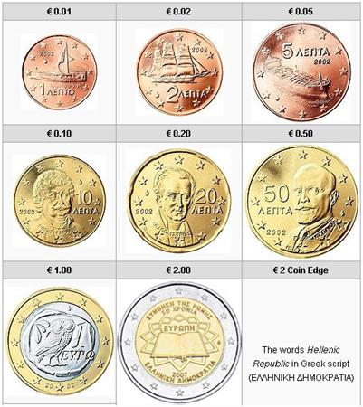 Obverse of Greece Complete Year Set - Treaty of Rome 2007