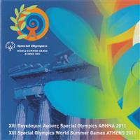 Obverse of Greek XIII Special Olympics - Acropolis KMS Set