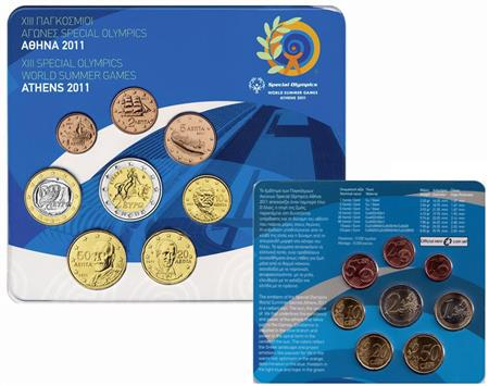 Obverse of Greece Official Blister 2011