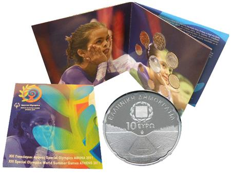 Obverse of Greece XIII Special Olympics - Kallimarmaro 2011