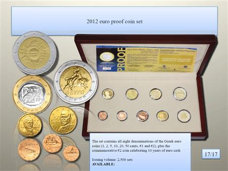 Obverse of Greece Proof Set 2012