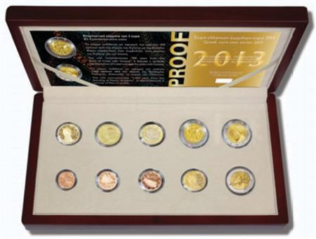 Obverse of Greece Proof Set 2014