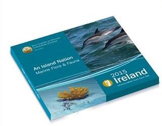 Obverse of Ireland Official Blister - Marine flora and fauna 2015