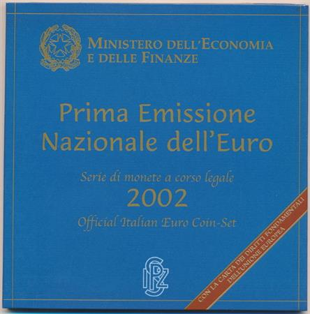 Obverse of Italy Official Blister 2002