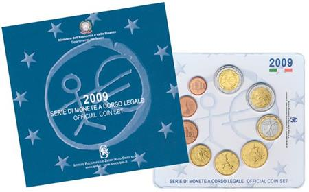 Obverse of Italy Official Blister - EMU 2009