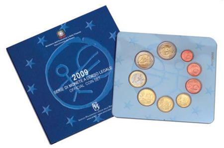 Obverse of Italy Official Blister 2009