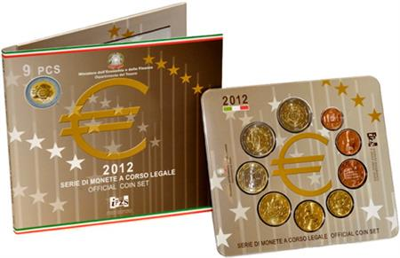 Obverse of Italy Official Blister 2012